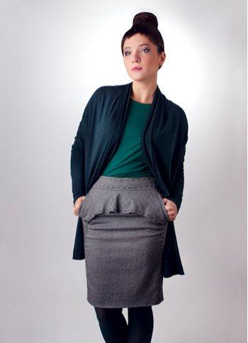 Dámský zavinovací svetr Dámské oděvy ... 2f50d3a276