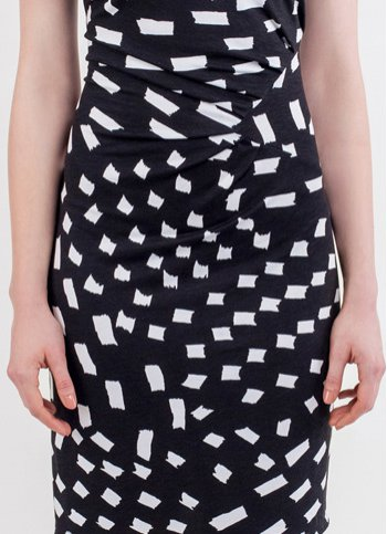 Jersey black and white dress Leila Female dress