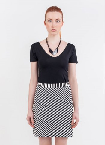 Striped skirt Cik-cak Female dress