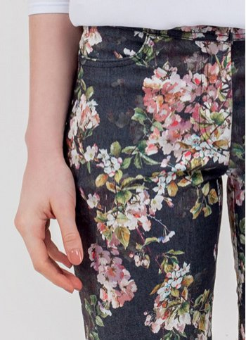 Flowered jeans Danna Female dress