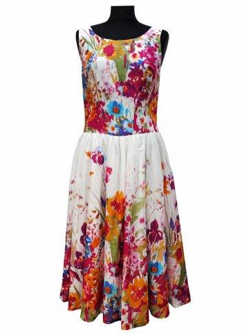 048825aa4ced Letní vzdušné květinové šaty Iris Dámské oděvy ...