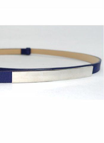 Slim belt - blue Female dress