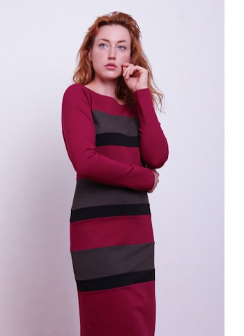 Striped jersey dress Laura Female dress