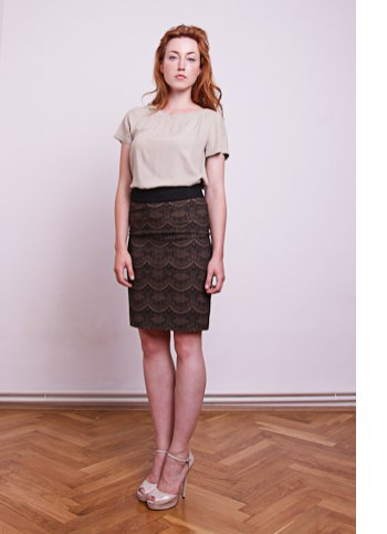 Raised waist skirt Mia Female dress