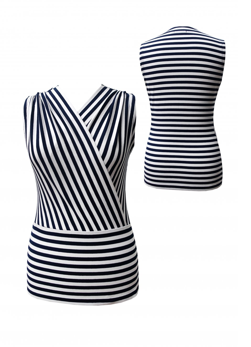 Striped ladies tops Ontarionette Female dress