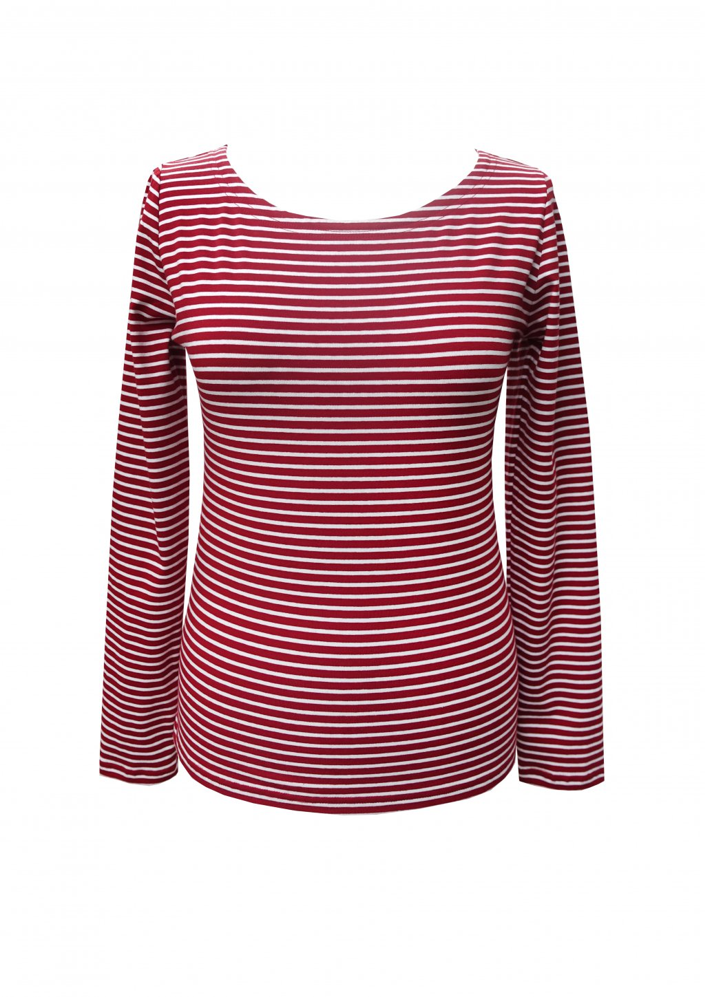 Long sleeve T-shirt Red Striped Female dress